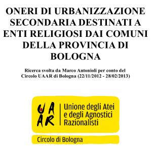 Inchiesta OnUS per edilizia di culto in provincia di Bologna