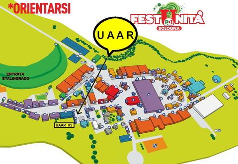 Mappa Festa Unita Bologna 2013