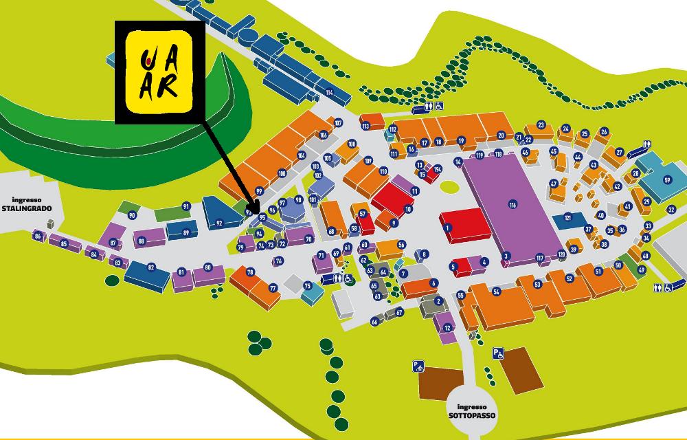 Stand Uaar sulla mappa della Festa dell'Unità 2014