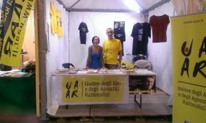 Stand Uaar alla Festa dell'Unità 2014