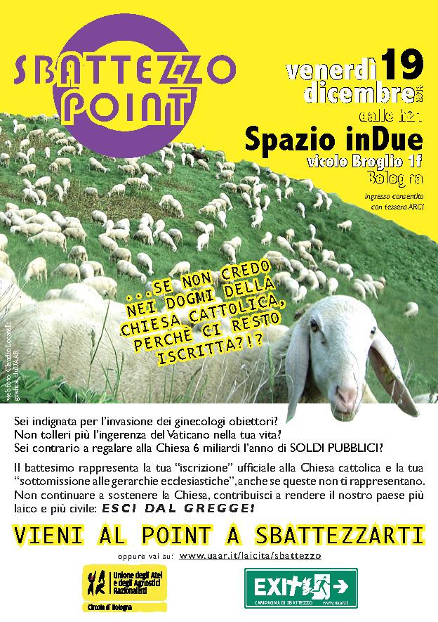 Sbattezzo Point @ Spazio inDue | 19 dic 2014