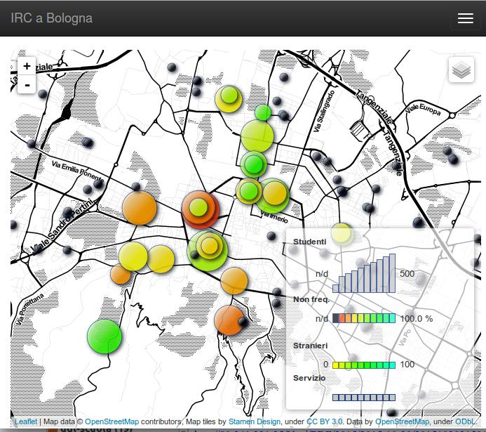 Mappa interattiva ricerca Uaar sull'ora alternativa nelle scuole bolognesi