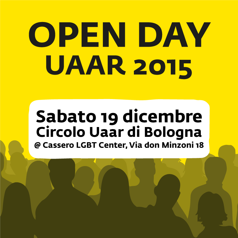 Open Day Uaar - Bologna 19 dic 2015