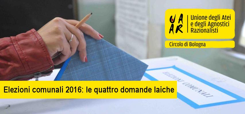 elezioni comunali 2016, quattro domande laiche