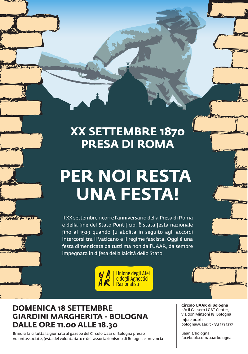 Manifesto XX Settembre, per noi resta una festa