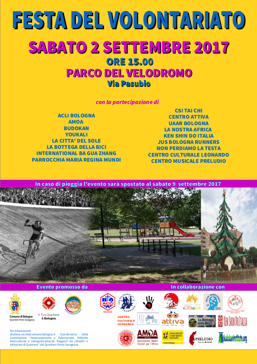 Volantino Festa del Volontariato - Parco del Velodromo