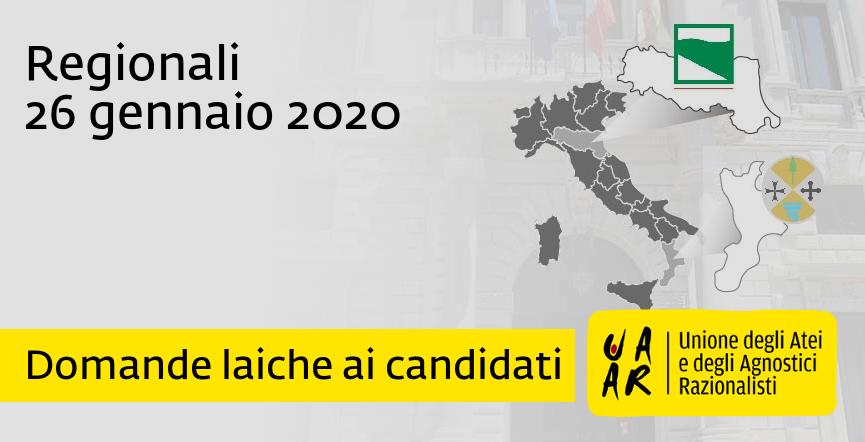 Regionali 2020: domande laiche ai candidati
